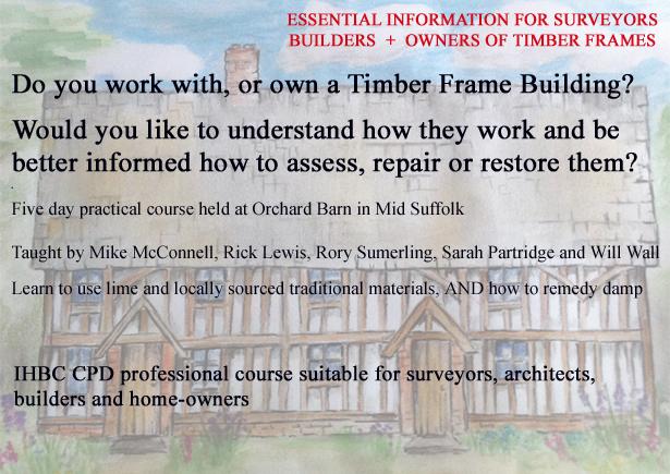 Timber Frame Restoration Skills Course