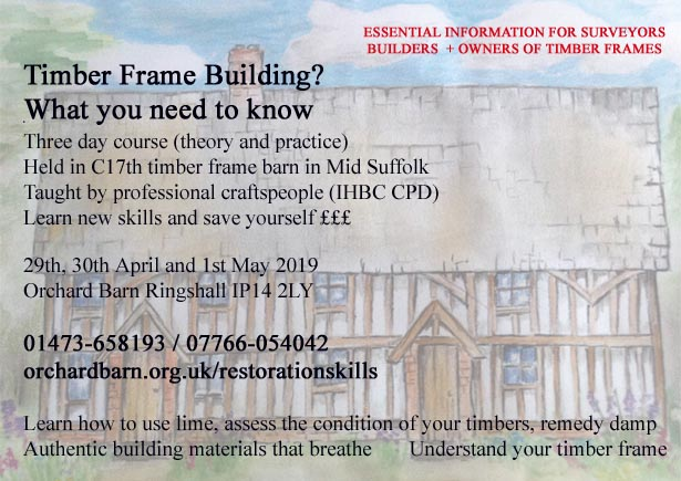 timber frame restoration skills poster