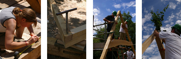 traditional oak roof construction