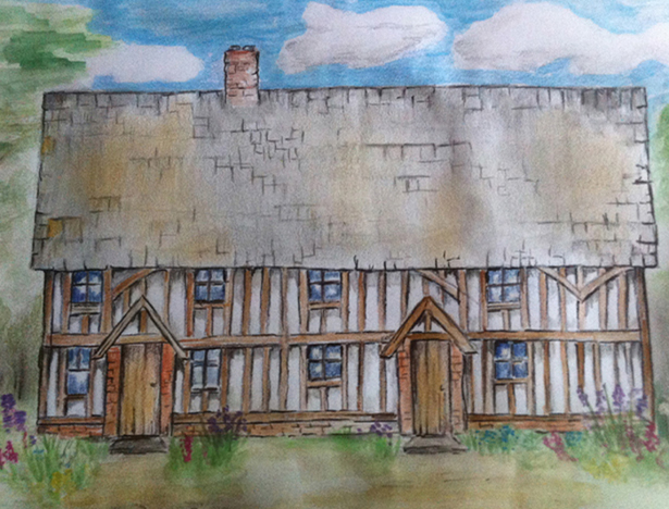 Artist's impression of Suffolk Long House