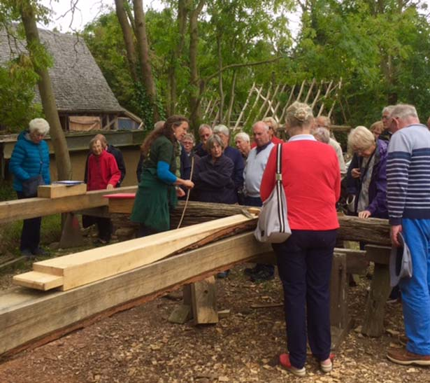 U3A visitors enjoying their guided tour with Sarah Partridge