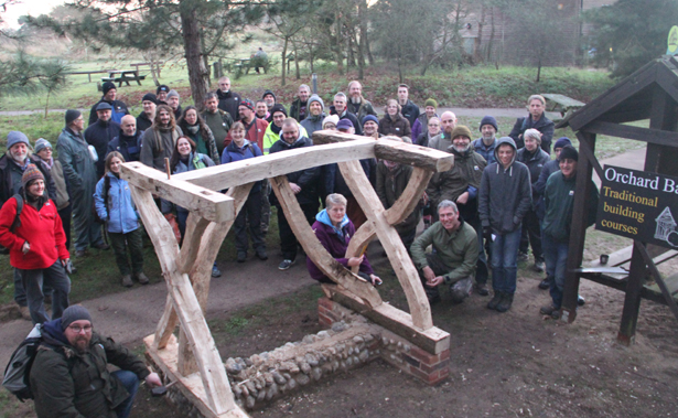Timber framing trainees